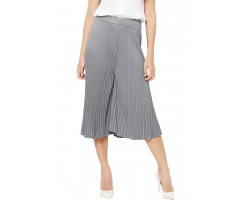 Pleated Midi Culotte Pants / Kulot Pendek Lipit - LIGHTGREY