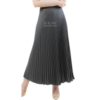 Pleated Long Skirts / Rok Panjang Lipit - GREY