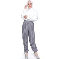Celana Jogger Plisket Wanita - One Size fit up to XL