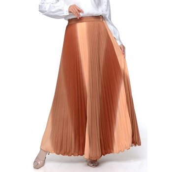 Rok Plisket Payung Pelangi - One Size fit up to XL