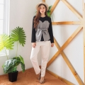 Louvre Checked Combination LongSleeves Top - Atasan Wanita Lengan Panjang AllSize 4 warna