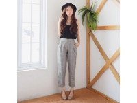 Korean Checked Editor Pants - Celana Wanita AllSize 4 warna