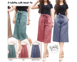 Casual Culottes with Waist-Tie | Celana Kulot [MBOTT]