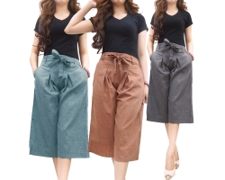 Casual Culottes with Waist-Tie | Celana Kulot [MBOTT] [CLN05]