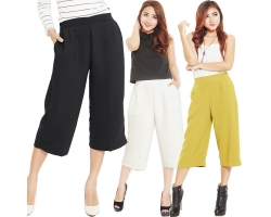 Allison Midi Culotte Pants [CLN05]