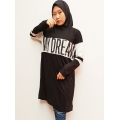 My Dream Atasan Tunik Kaos Wanita - Statement Dress - BLACK