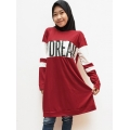 My Dream Atasan Tunik Kaos Wanita - Statement Dress - RED