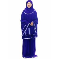 SET Mukena Pita Aleea AllSize fit up to XL - BIRU