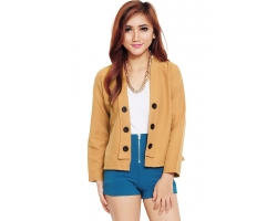 6-Buttons Blazer - MOCCA2
