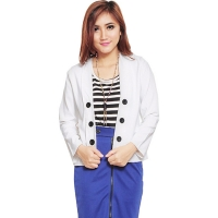 6-Buttons Blazer - WHITE