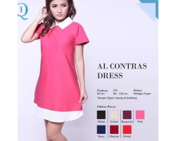 Al Contrast Dress [KDRESS06]