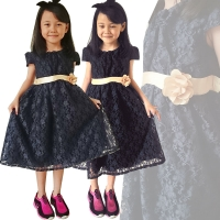 Clarence Black Lacey Dress for Children [CDRESS]