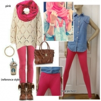 Basic Comfy Pink Legging (XL)
