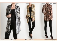 Abstract Pattern Cardigan (last stock: Grey)