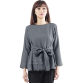 Marina Ribbon Longsleeve Top - DARKGREY2