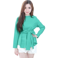 Marina Ribbon Longsleeve Top - MINT