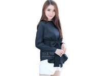 Marina Ribbon Longsleeve Top - NAVY
