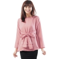 Marina Ribbon Longsleeve Top - PINK3
