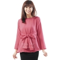 Marina Ribbon Longsleeve Top - PINK4