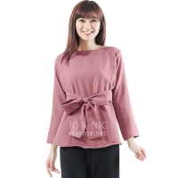 Marina Ribbon Longsleeve Top - PINK5