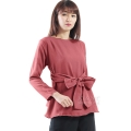 Marina Ribbon Longsleeve Top - PINK7
