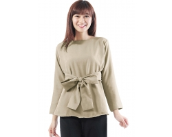 Marina Ribbon Longsleeve Top - CREAM2