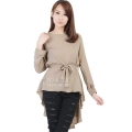 Phoebe Penguin Ribbon Tunic Top - BEIGE