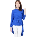 Phoebe Penguin Ribbon Tunic Top - BLUE