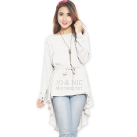 Phoebe Penguin Ribbon Tunic Top - WHITE