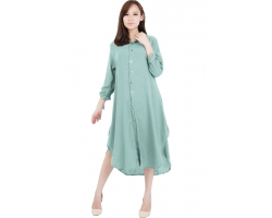 Ashley Ribbon Sleeves Tunic Dress - TOSCA8