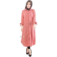 Ashley Ribbon Sleeves Tunic Dress - PINK3