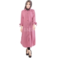 Ashley Ribbon Sleeves Tunic Dress - PINK8