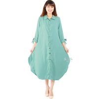 Ashley Ribbon Sleeves Tunic Dress - TOSCA
