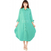 Ashley Ribbon Sleeves Tunic Dress - TOSCA3