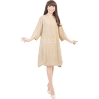 Sylvia Wing Tunic Dress - BEIGE