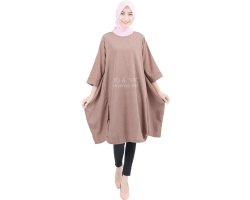 Sylvia Wing Tunic Dress - BROWN