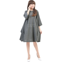 Sylvia Wing Tunic Dress - GREY