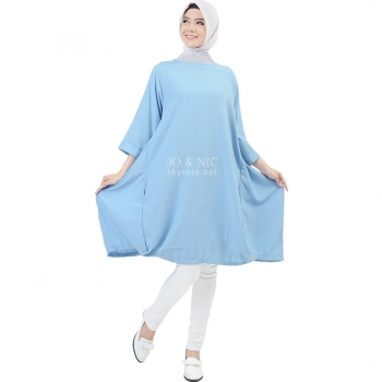 Sylvia Wing Tunic Dress - LIGHTBLUE