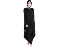 Camille Drappery Long Dress - BLACK