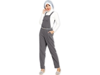 Jocelyn Overall Pants - DARKGREY