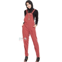 Jocelyn Overall Pants - RED