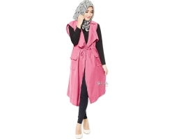 Rebecca Parka Tunic Outer - PINK