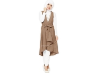 Tatyana Midi Outer Vest - BROWN