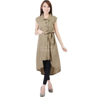 Tasha Ribbon Outer Tunic - BROWN2