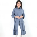 Nikita Tunik Ruffles Dress Wanita AllSize - BLUE