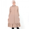 Nikita Tunik Ruffles Dress Wanita AllSize - BROWN