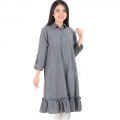 Nikita Tunik Ruffles Dress Wanita AllSize - GREY