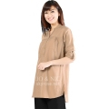 Ameera LongSleeve Tunic Shirt - BROWN3 (XL)