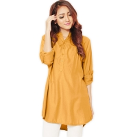 Ameera LongSleeve Tunic Shirt - YELLOW1 (XL)