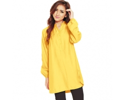 Ameera LongSleeve Tunic Shirt - YELLOW2 (XL)